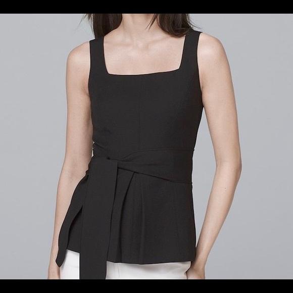 e1344867dbb Black women's sleeveless blouse - Tie waist size 0